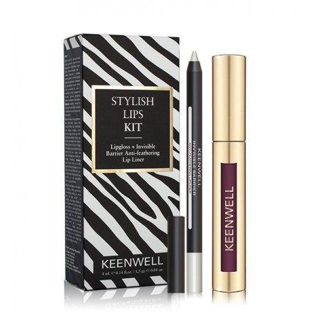 STYLISH LIPS KIT LIPGLOSS + INVISIBLE BARRIER ANTI-FEATHERING LIP LINER Nº 03 KEENWELL