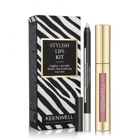 STYLISH LIPS KIT LIPGLOSS + INVISIBLE BARRIER ANTI-FEATHERING LIP LINER Nº 04 KEENWELL