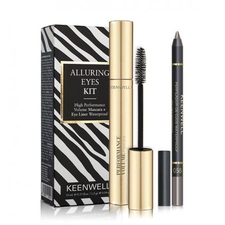 ALLURING EYES KIT HIGH PERFORMANCE VOLUME MASCARA + EYE LINER WATERPROOF Nº 05 KEENWELL